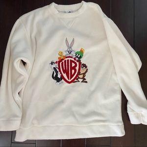 Warner Bros Studio Fleece Sweatshirt Vintage M